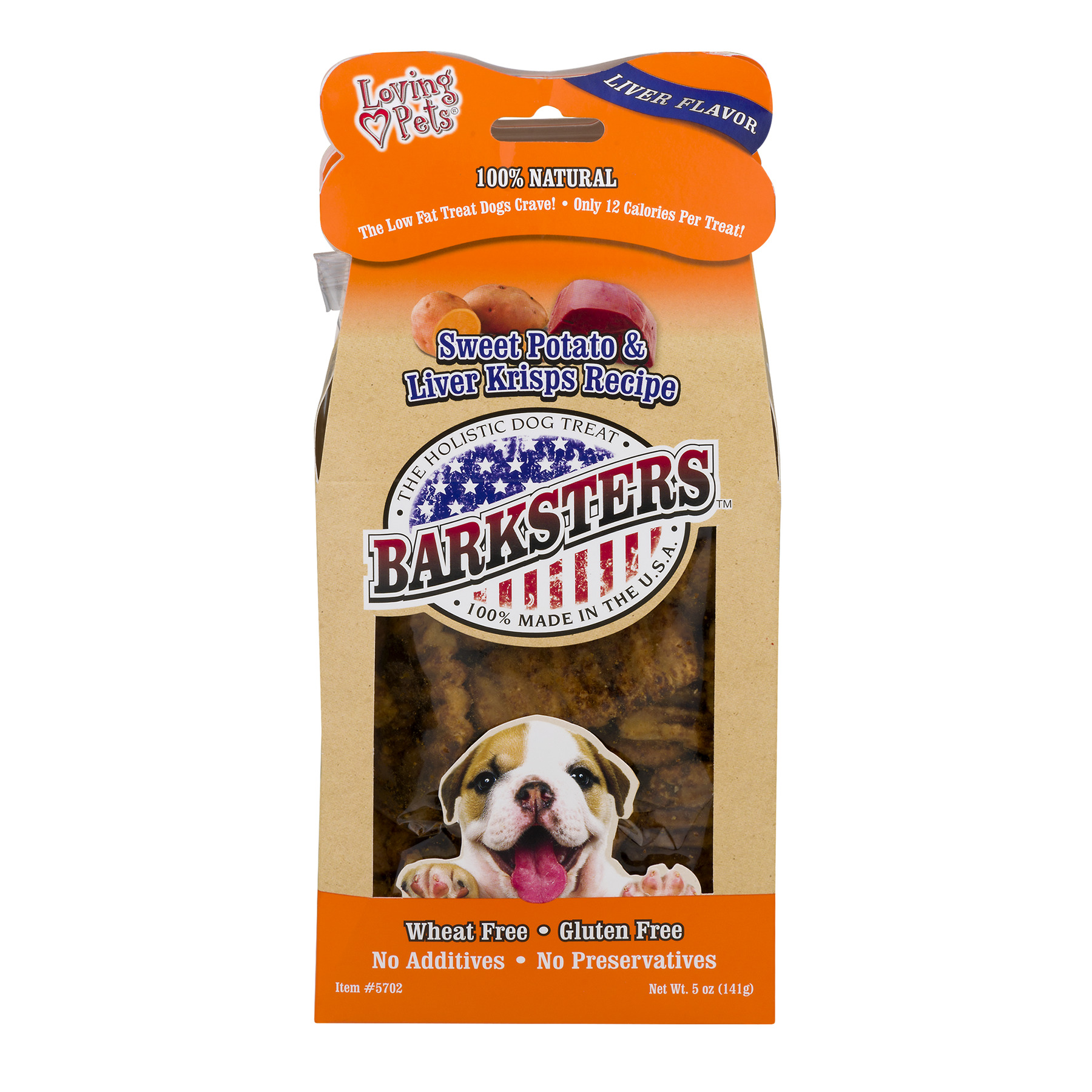 Barksters Sweet Potato & Liver Krisps, 5.0 OZ