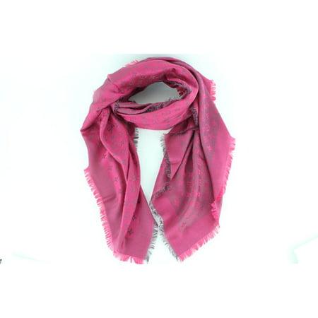 Fuchsia Chale Monogram Rainbow Framboise Shawl 3lz1113 Scarf/Wrap Louis Vuitton Women Scarf