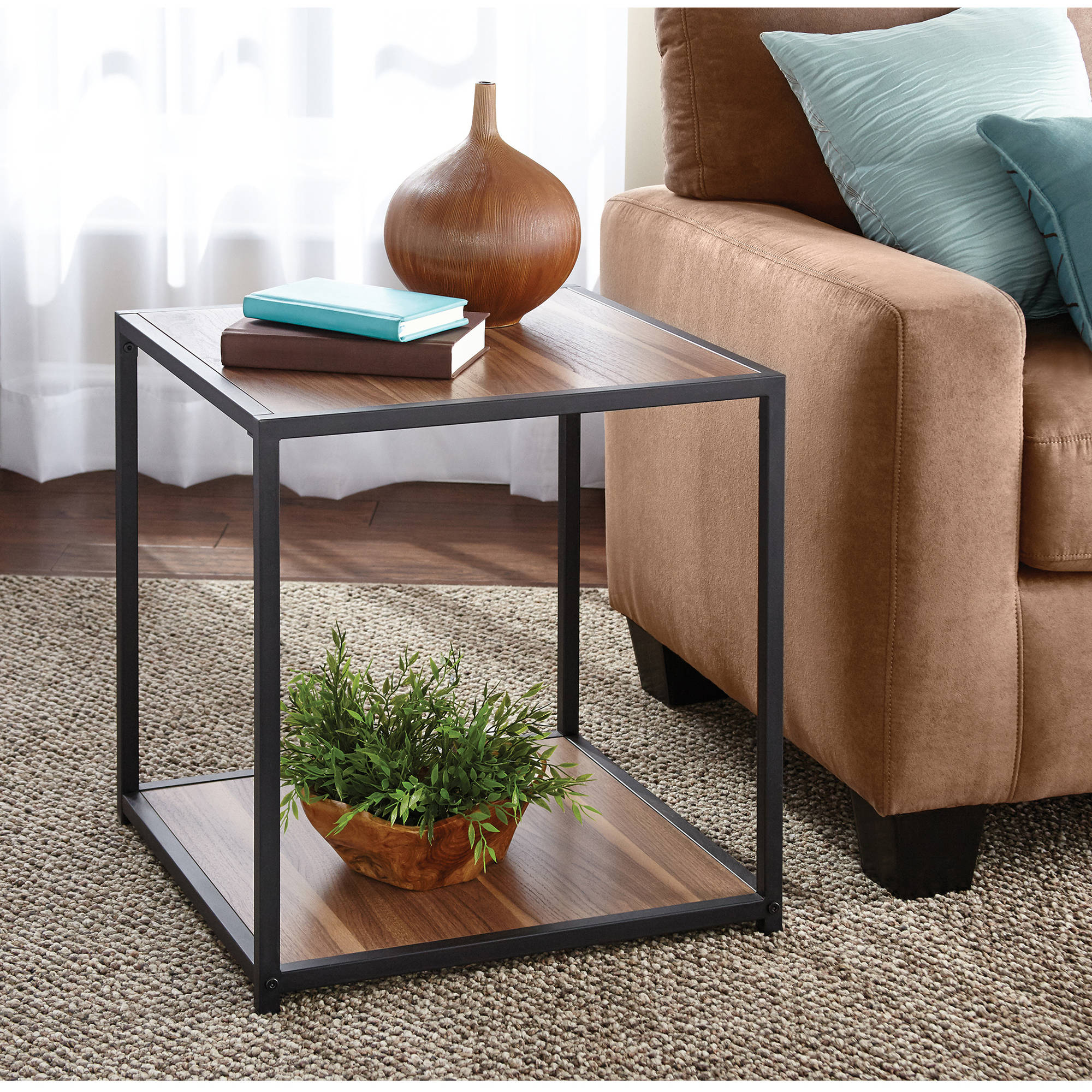 Mainstays Metro Side Table Multiple Finishes Walmart