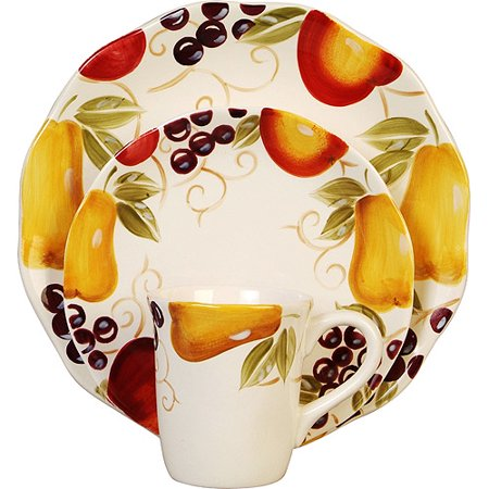 Better homes and gardens bella fruit 16 piece dinnerware set for Better homes and gardens dinnerware