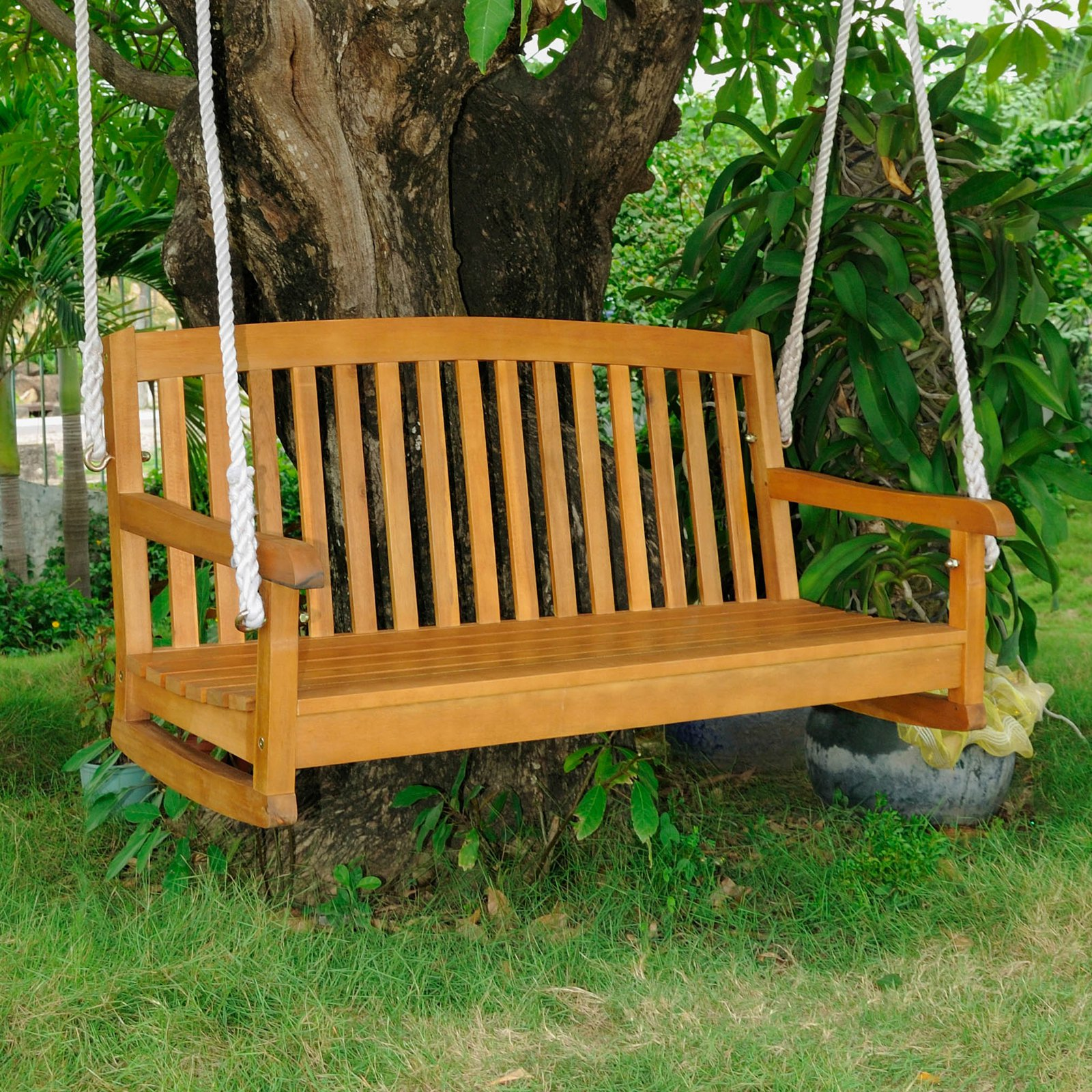 International Caravan Royal Tahiti Acacia 48 in. Hanging Porch Swing by International Caravan