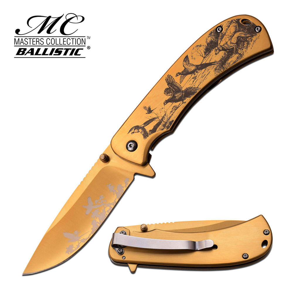 Click here to buy Masters Collection Spring Assisted Knife MC-A038GD by Master Cutlery.