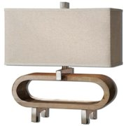 Uttermost Medea 20.5'' H Table Lamp with Rectangle Shade