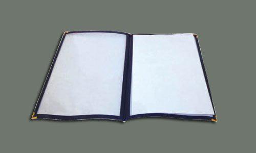 Burgundy 12-Inch x 9.5-Inch Winco Double Fold Menu Cover
