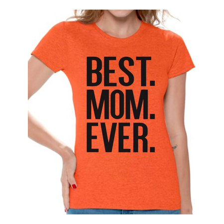 Awkward Styles Women's Best Mom Ever Graphic T-shirt Tops Mother's Day