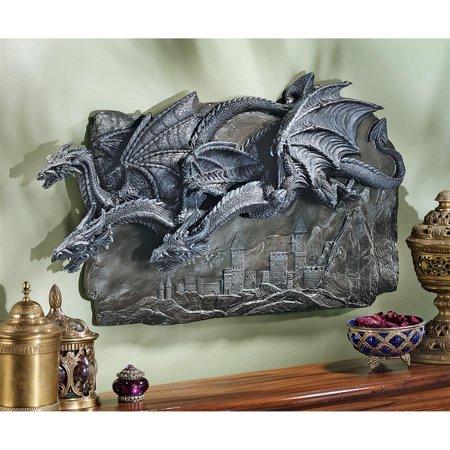 Design Toscano Morgoth Castle Dragons Wall Sculpture ()