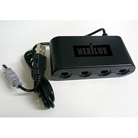 GameCube Controller Adapter for Wii U, PC USB, MAC  & SWITCH -