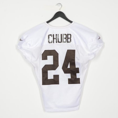 new product f40d8 7ff35 Nick Chubb Cleveland Browns Practice-Used White #24 Jersey from the 2018-19  NFL Season - Fanatics Authentic Certified - Walmart.com