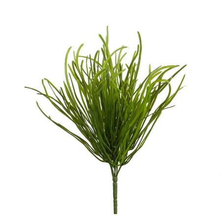 - Club Pack of 12 Green Artificial Mini Pearl Grass Bush Sprays 11.5