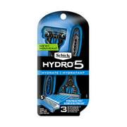 Schick Hydro 5 Hydrate Men's Disposable Razors, 3 Ct