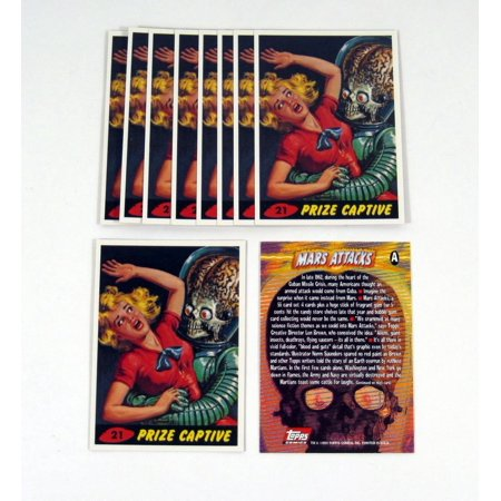 Lot of (10) 1994 Topps Archives Mars Attacks Archives Promo Card (A) Nm/Mt