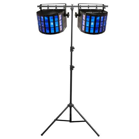 (Chauvet DJ Mini Kinta IRC LED RGBW DMX Lights (2 Pack) + Portable Tripod Stand)