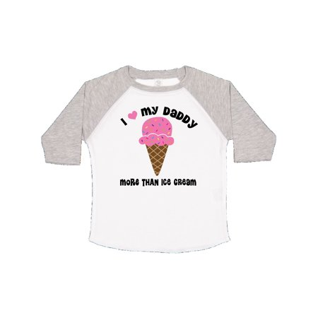 82bb7b287 Inktastic - I Love Daddy More Than Ice Cream Toddler T-Shirt - Walmart.com