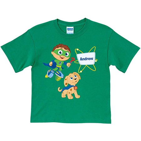 Personalized Super Why! & Woofster Green Toddler Boy T-Shirt