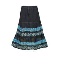Mogul Women Peasant Skirts Festival Frolic Handmade Tie Dye Gypsy Flirty Sexy Soft Georgette Bohemian Midi Skirts