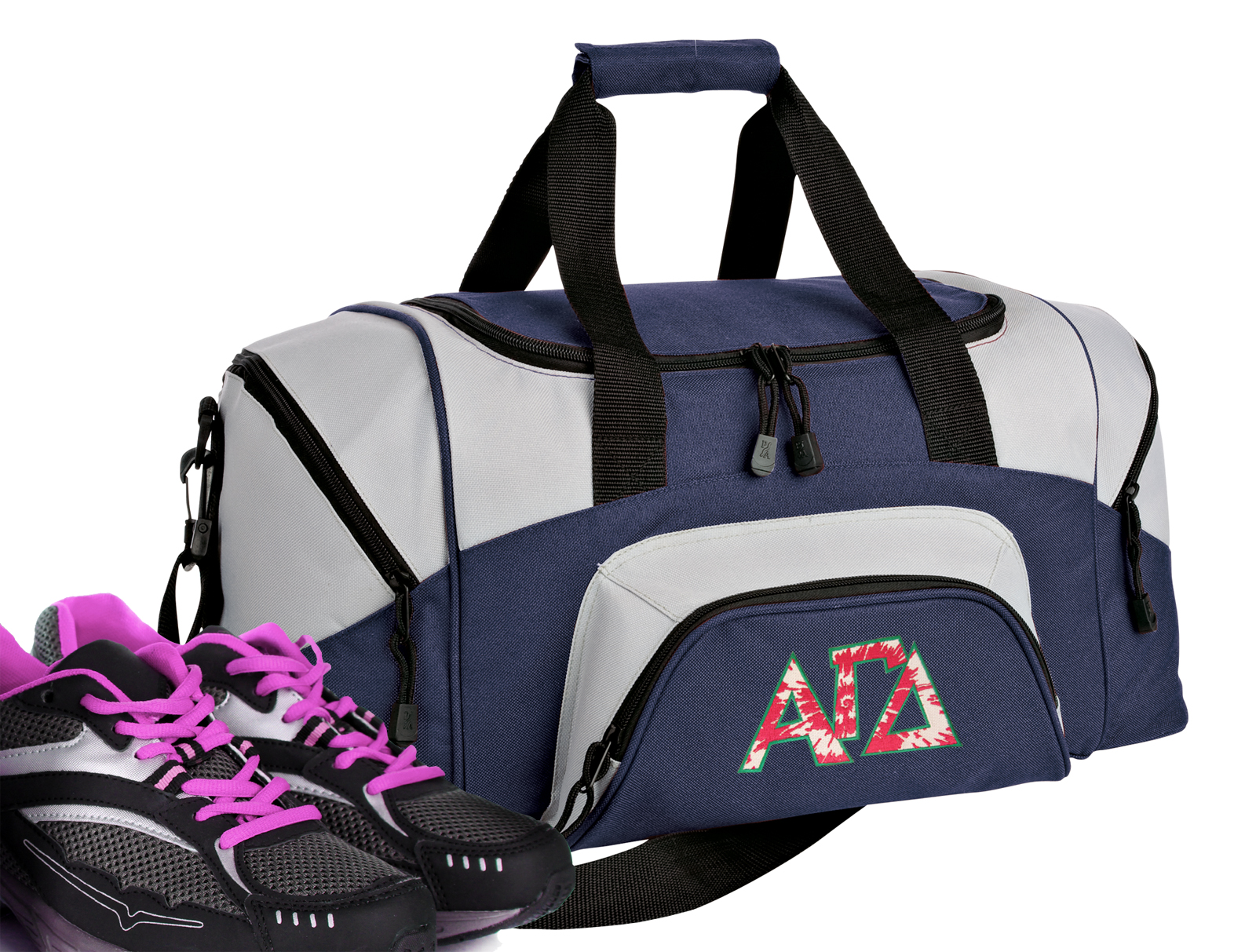 Small Alpha Gamma Sorority Duffle Bag or Small Alpha Gamma Gym Bags by