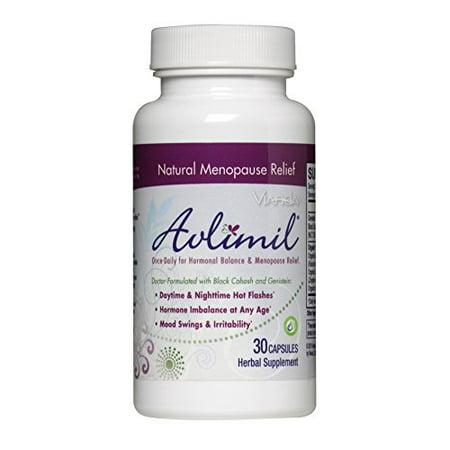 Avlimil | Fabriqué avec des ingrédients biologiques pour l'équilibre hormonal et la ménopause supplément | Mood Pivoter, facilité les bouffées de chaleur, sudation - 1 Alimentation Mois (30 capsules)