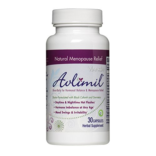 Avlimil | Made with Organic Ingredients for Hormonal Balance and Menopause Supplement | Mood Swing Support, Ease Hot Flashes, Sweating - 1 Month Supply (30 Capsules)