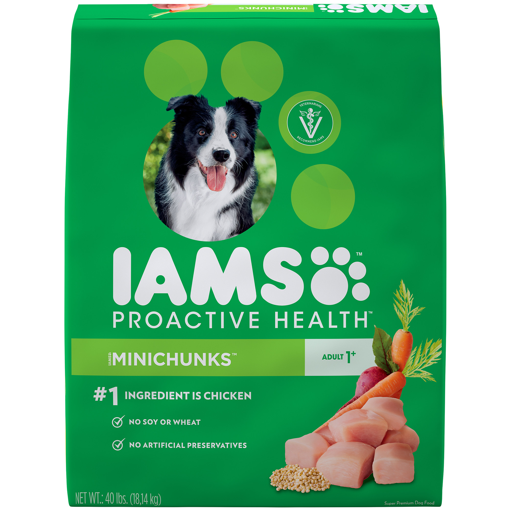 Iams Proactive Health Minichunks Chicken Dry Dog Food, 40 Lb