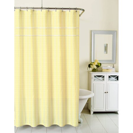 Homewear Sunny Day Shower Curtain Seersucker Yellow