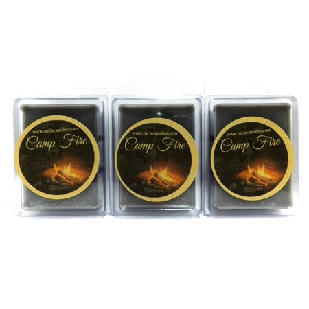 Combo 3 Packs of Camp Fire 3.2 Ounce Wax Tarts -Wickless Candle Tart Warmer Wax