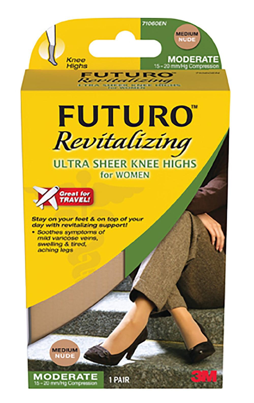 FUTURO Energizing Ultra Sheer Knee Highs for Women Mild