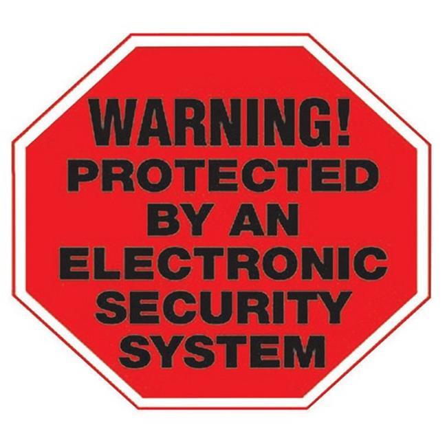Hy-Ko HSV-102 4 x 4 in. Security System Vinyl Sign- - pack of 10 - image 1 de 1