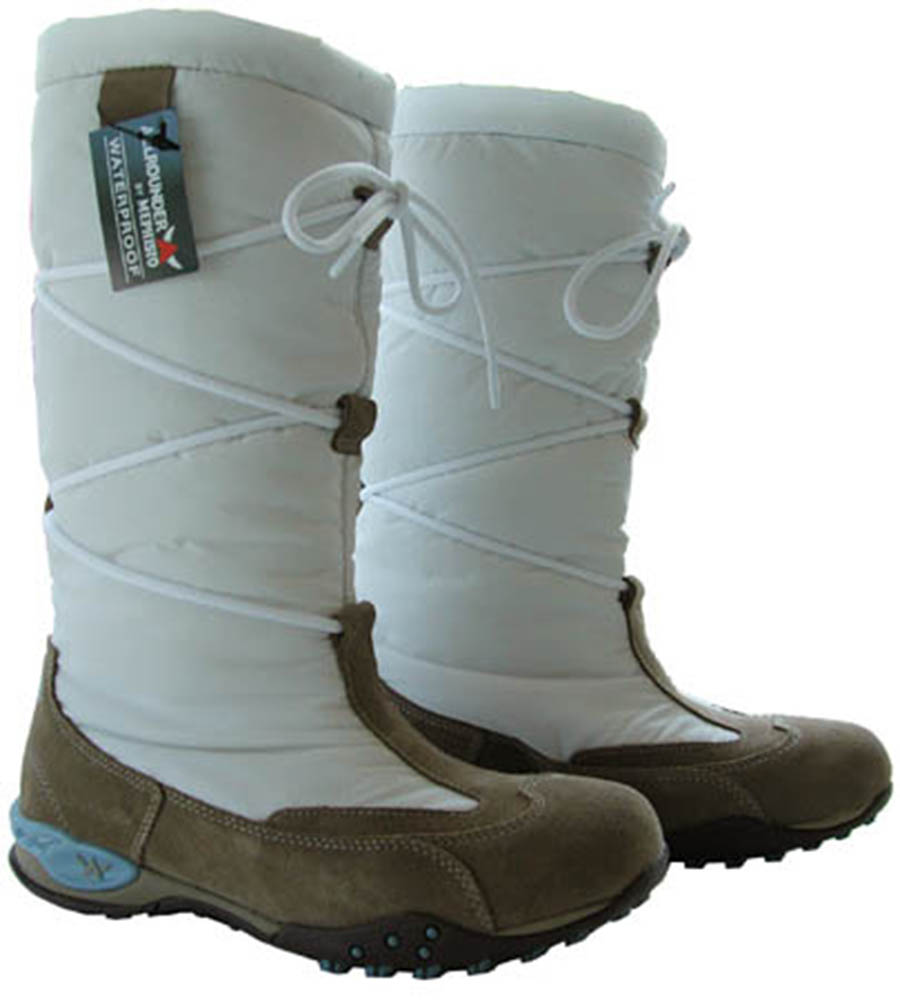 NEW Mephisto Mistral High Boots Womens White/Tan Blue 6