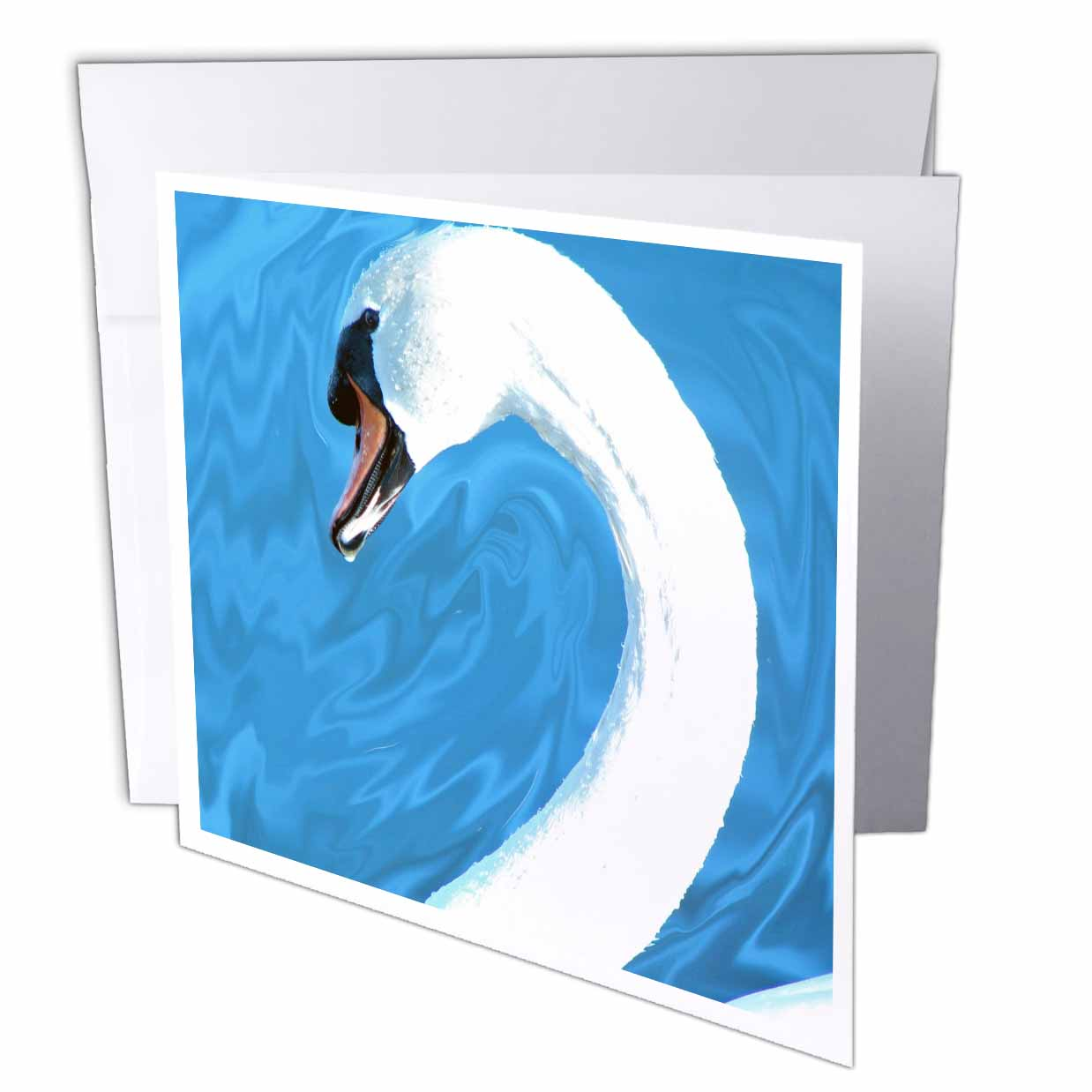3dRose Swan by Angelandspot, Greeting Cards, 6 x 6 inches, set of 12 ...