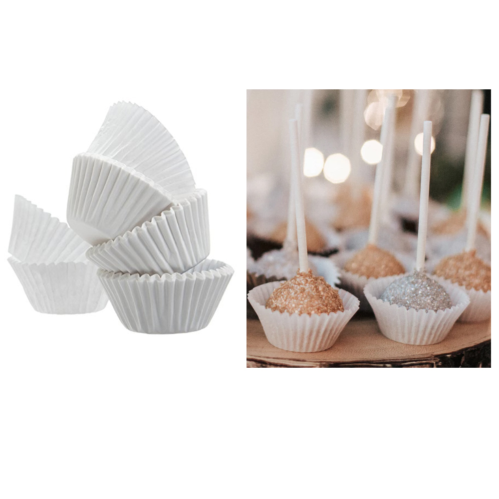 400 Mini Paper Baking Cups Cupcake Liners Cake Candy Cookie Muffin Bite Size New