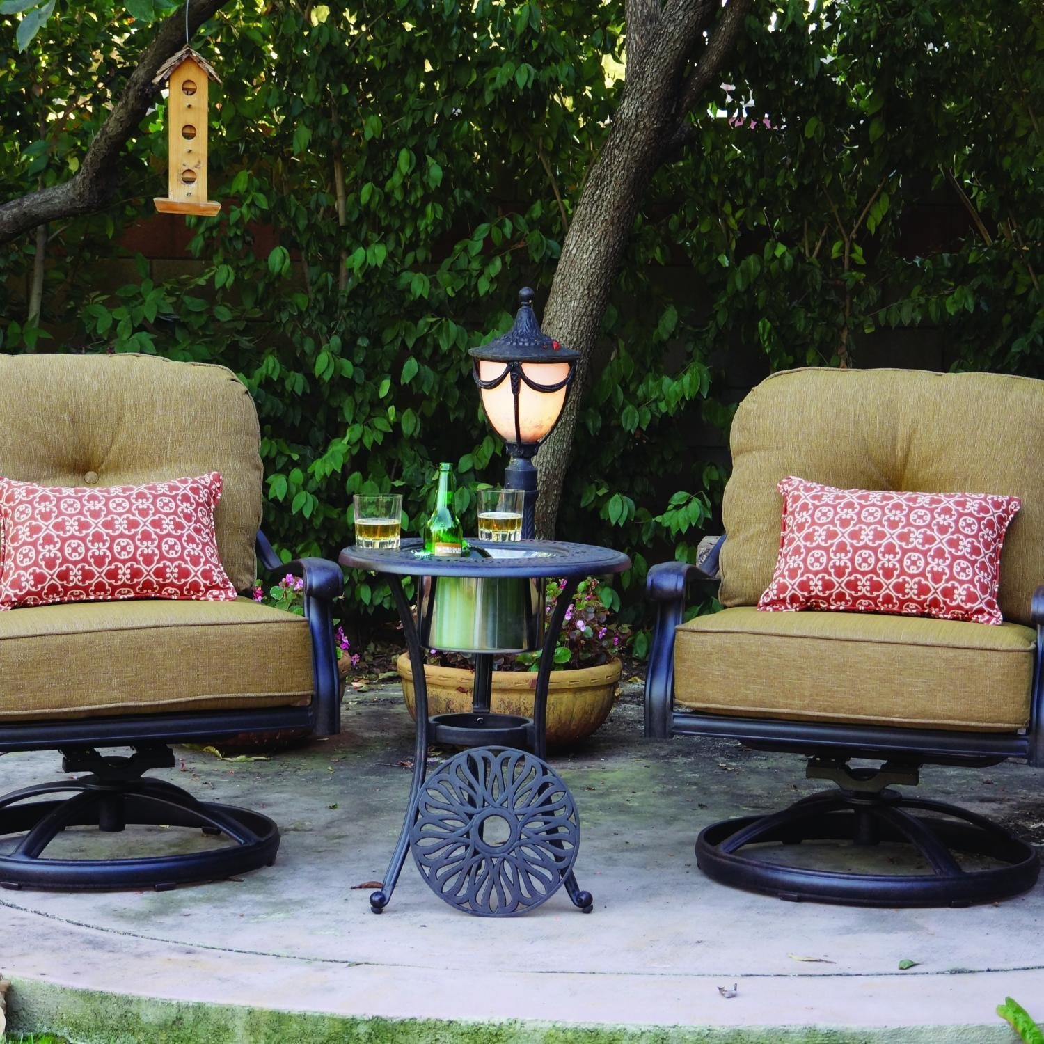 Elisabeth 2 Person Patio Conversation Set With Ice Bucket Insert