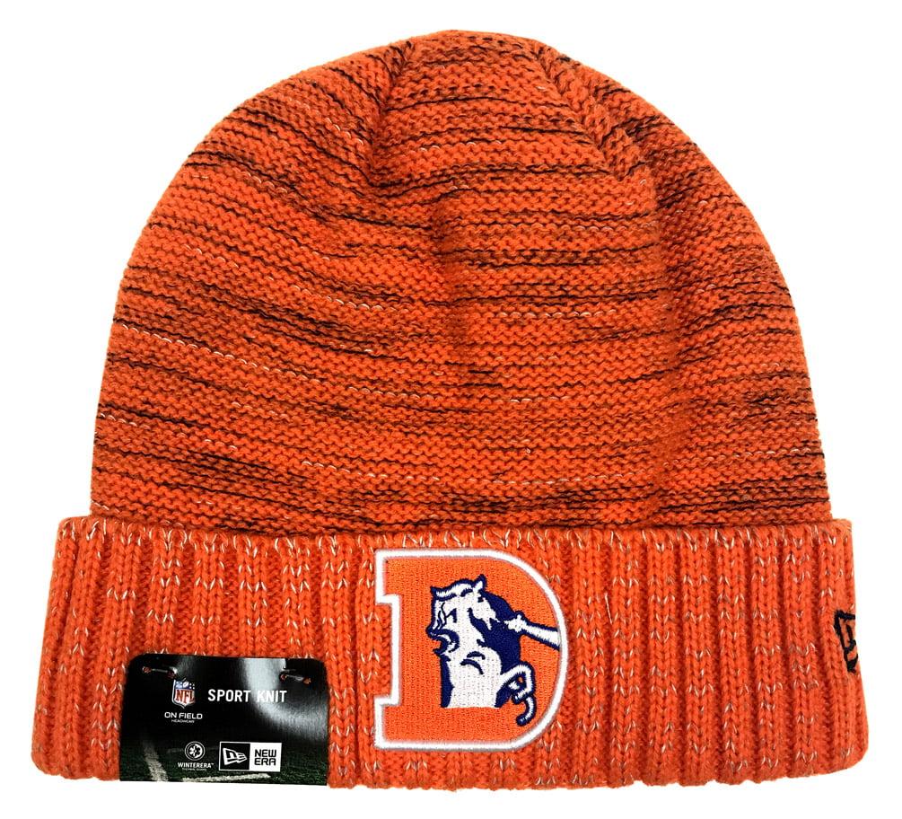 New Era Denver Broncos Knit Beanie Cap Hat NFL 2017 Color Rush 11461041 by New Era