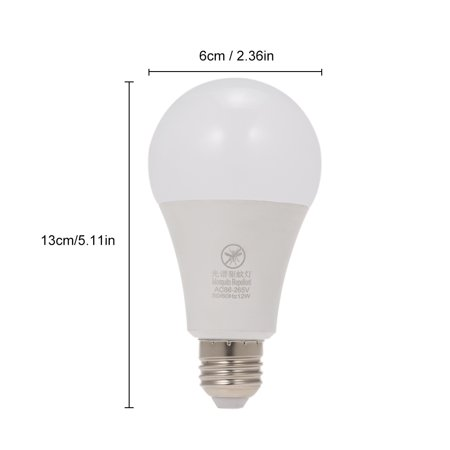 Yellow LED Bug Light Bulb No Blue Light Outdoor E26/27 15W Mosquito Repellent Light Bulb No UV 570-590nm Wavelength Night Light for Outdoor Indoor Long Service Life Energy Saving Light - image 2 of 7