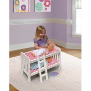 Badger Basket Doll Bunk Bed with Ladder, Chevron Print, Fits Most 18  Dolls and My Life As