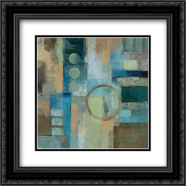 Focal Point 2x Matted 20x20 Black Ornate Framed Art Print by Vassileva, Silvia