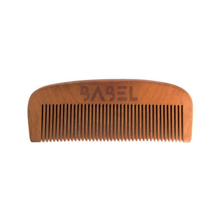 Babel Alchemy Handcrafted Pear Wood Beard Comb  Retail Packaging