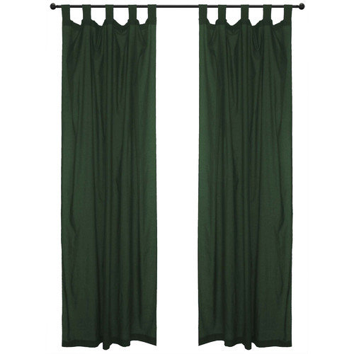 home decor inc cotton tab top forest sheer voile curtain