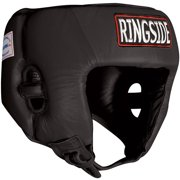 Ringside Competition-Like Open Face Sparring Headgear Medium Black