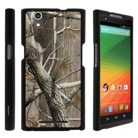ZTE Zmax Z970, [SNAP SHELL][Matte Black] 2 Piece Snap On Rubberized Hard Plastic Cell Phone Cover with Cool Designs - Hunter Camouflage