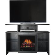 """Décor Flame Acadia 42"""" Media Fireplace, for TVs up to 50"""", Black"""