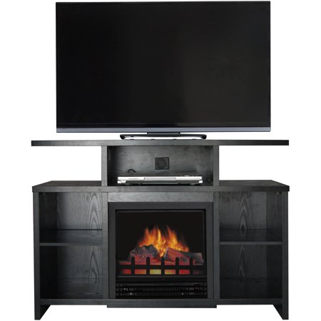 D;cor Flame Acadia 42″ Media Fireplace, for TVs up to 50″, Black