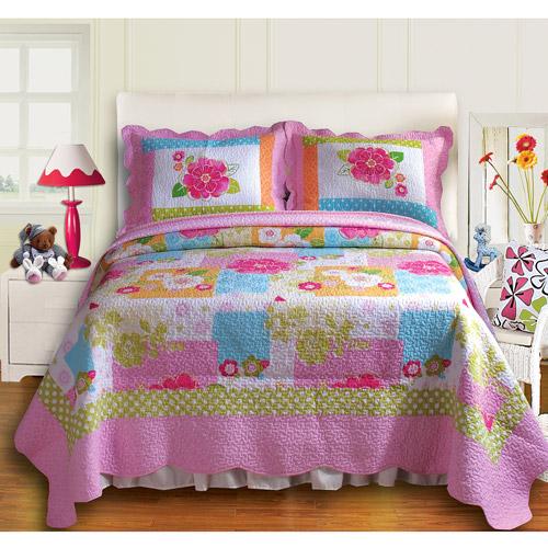 Global Trends Flutterby Quilt Set, Pink