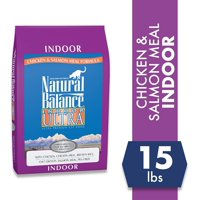 Natural Balance Indoor Ultra Chicken, Chicken Meal, Brown Rice, Oat Groats, Salmon Meal & Pea Fiber Dry Cat Food, 15 Pounds