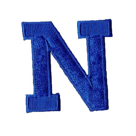 Alphabet Letter - N - Color Royal Blue - 2