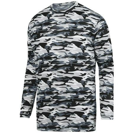 Augusta Sportswear Men's Mod Camo Long Sleeve Wicking Tee (Mod Tap)