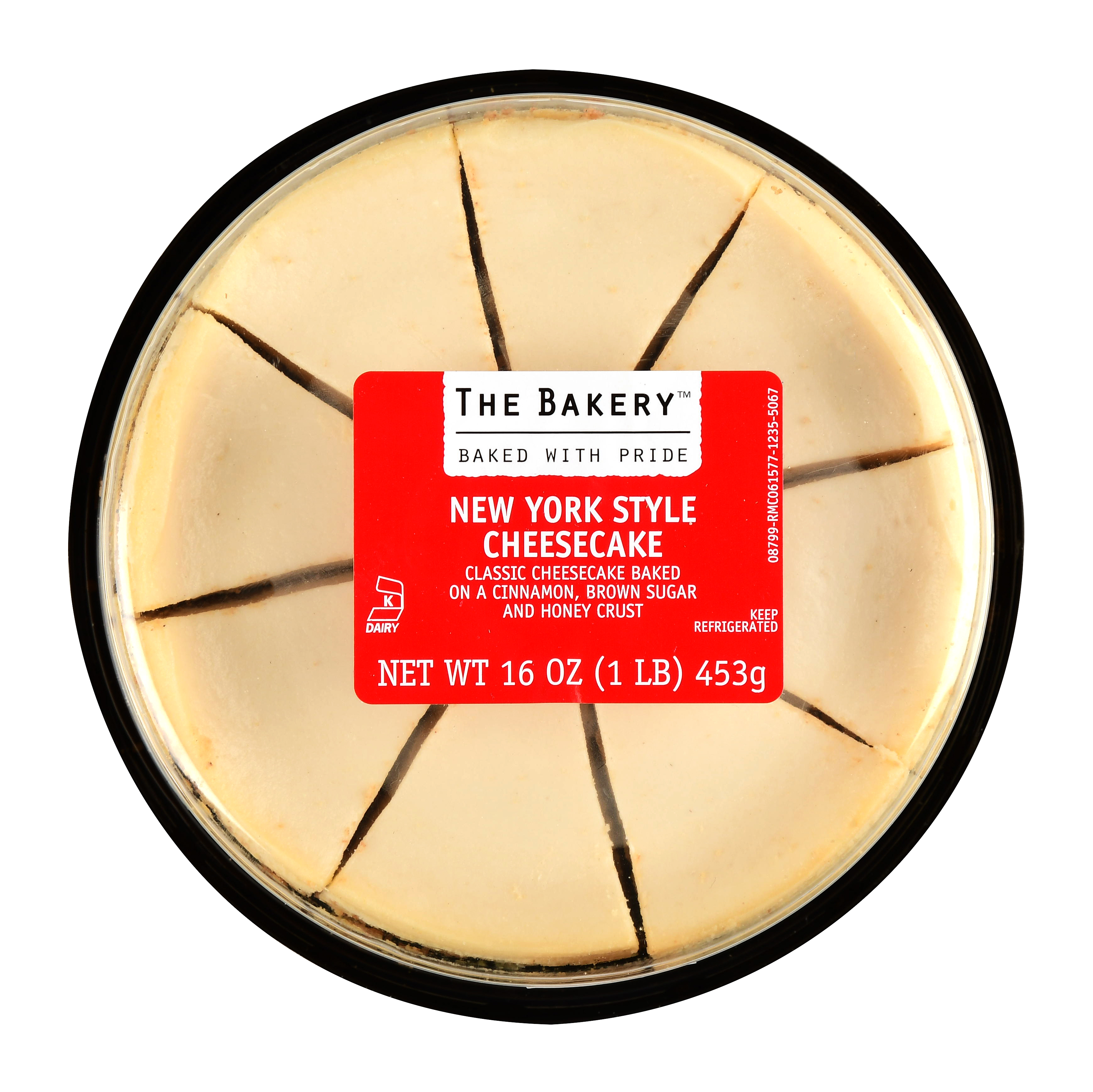 The Bakery New York Style Cheesecake, 16 oz, 8 Slices