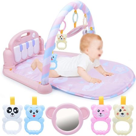 3 In 1 Baby Ring Bell Kid Toys Play Musical Pedal Piano