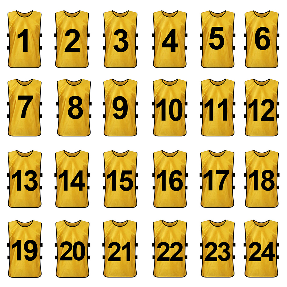 12x Lot Adult TopTie Numbered Training Vest #1-12 Soccer Pinnies Jersey Bib Pack