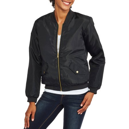 unique style find lowest price really cheap CALIFORNIA HAPPENINGS - Juniors' Bomber Jacket - Walmart.com