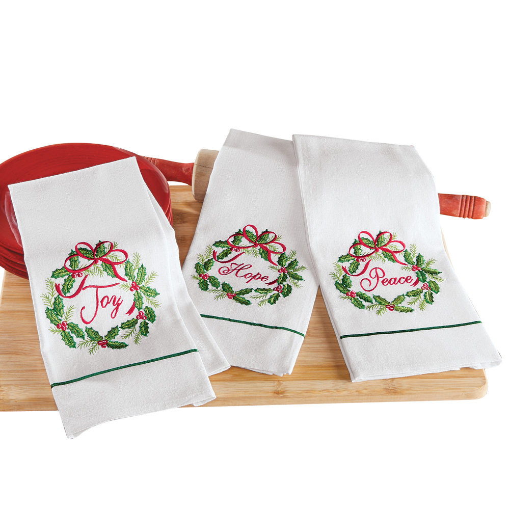 5 Pc Kitchen Set CARDINAL CHRISTMAS 1 Mitt//1Potholder//2 Towels//1 Scrub Cloth